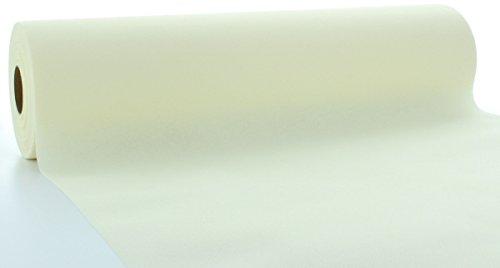 Sovie HORECA Linclass® Airlaid Tischläufer 40 cm x 24 m / Tischdecken-Rolle stoffähnlich / praktische Einmal-Tischdecke für Hochzeit oder Partys / Champagner