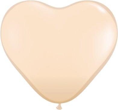 Mayflower Balloons 10570 6 Inch Herz Latex Blush Packung mit 100 St-ck