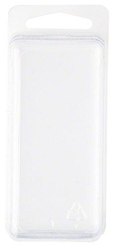 Plástico Transparente Concha del paquete/Contenedor de almacenamiento, 3.06'H x 1,25' W x 1.25'D, 50unidades)