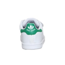 Adidas B32704, Tennis Garçon Blanc + Vert
