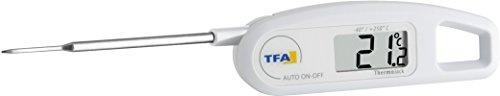 einstichthermometer TFA Dostmann Thermo Jack digitales Einstichthermometer, 30.1047.02, Temperaturkontrolle von Lebensmittel, abwaschbar