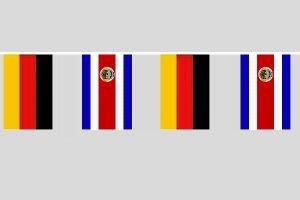 Preisvergleich Produktbild Party-Flaggenkette : Deutschland - Costa Rica Länge ca.: 15,80m