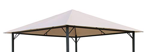 QUICK STAR Ersatzdach für Garten Pavillon 3x3m Sand Antik Pavillondach Ersatzbezug