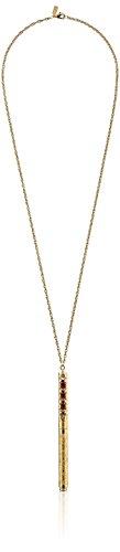 1928 Vintage -Schmuck der 1960er Jahre inspiriert Rubin & Gold Hues Pen Halskette