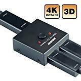 HDMI Switcher, Benfei 2 Ports Bi-direction Manual HDMI Switch 2 x 1/1 x
