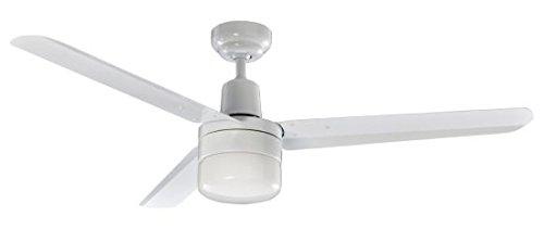 Ventilatore da soffitto con luce Perenz 7146B. Corpo in metallo