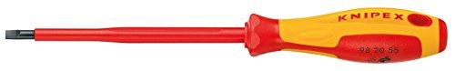 KNIPEX 98 20 40 Schraubendreher für Schlitzschrauben 202 mm