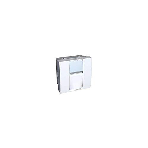 Prise RJ45 cat6 FTP multimedia blanche 45X45mm clipsable avec porte-étiquette S-one Altira SCHNEIDER ELECTRIC ALB45316