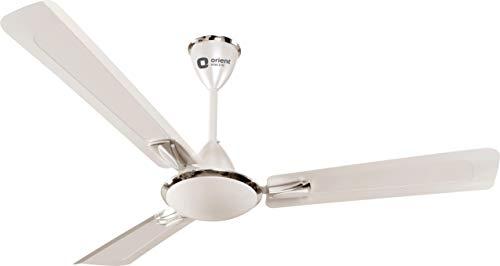 Orient Electric Gratia 48-inch 70-Watt Decorative Ceiling Fan (Pearl and Metallic White)