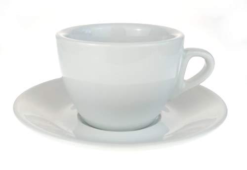 Nuova Point Kleine dickwandige Cappuccinotasse »Palermo (max. 145 ml) weiß / (6 Tassen & Untertassen)