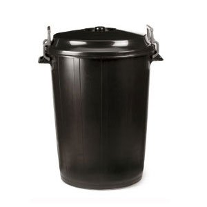 PLASTICOS HELGUEFER - Basurero 100 litros Tapa Negro