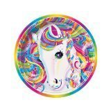 Lisa Frank Rainbow Majesty Unicorn 7 Paper Plate (8 Count) by Lisa Frank