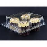 Clear Jumbo Cupcake Boxes Holds 4 jumbo Cupcake muffins each - 11 boxes by Decony