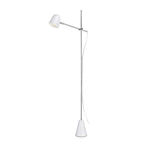 Lampadaire design articulé CONRAD blanc en métal
