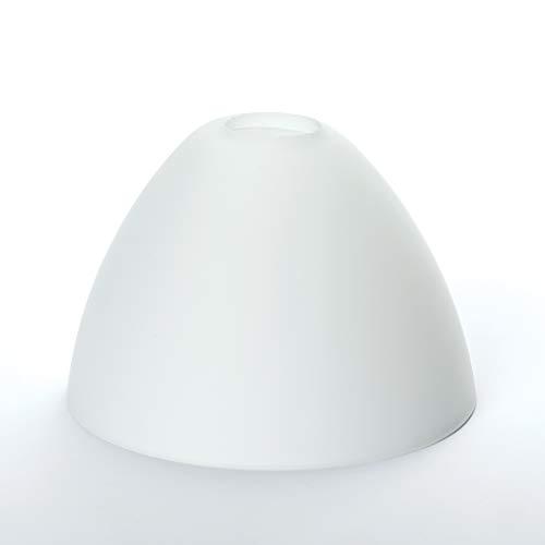 Glas Lampenschirm Ersatzglas Kegel weiß G9 Lochmaß Fassung ø 23 mm -