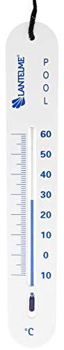 Lantelme Poolthermometer Schwimmbad Pool Teich Thermometer sinkend Analog Schnur Wassertemperatur Tiefe 4824
