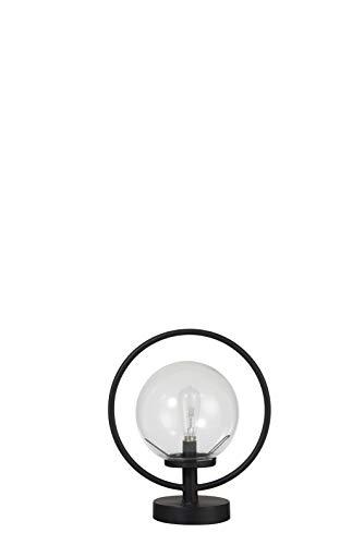 LAMPE LED ANN METAL/VERRE NOIR (25x15x28cm) JOLIPA JLINE 92546