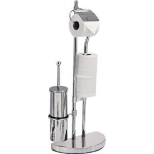 High Quality Chrome Plated Toilet Brush and Multi Toilet Roll Holder