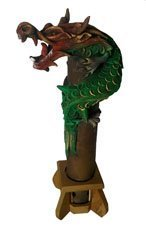 Dragon Incense Burner, handmade from Bamboo and wood shavings - Vertical Smoking Dragon