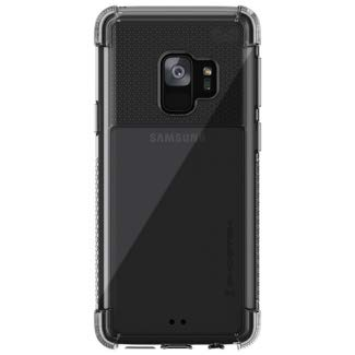 ghostek Covert Crystal Clear Silikon Dual Layer Fall Kompatibel mit Galaxy S9, Weiß Crystal Rim