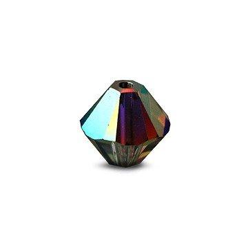I-Beads Perlen Swarovski 5328 xilion bikone Crystal Vitrail Medium 3mm (40) -