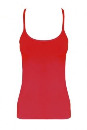 Momo Fashion-Adults Girls Ladies Racer Back Neon Vest Top Size 8-16 (UK Size 14 (EUR 42), RED)