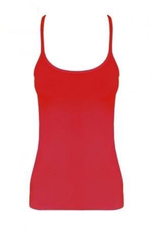 (Momo Erwachsene Fashion-Mädchen-Damen Racerback Tank Top, Neon, Gr. 34-42 (UK 14 (EUR 42), Rot - Red))