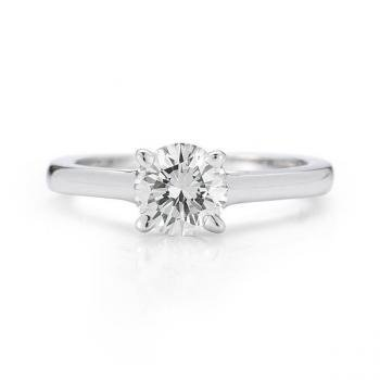 Anello solitario con diamante 1 k, purezza