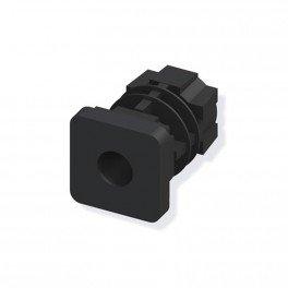 2 bouchons filtés noir 23.5mm pour tube alu et pvc