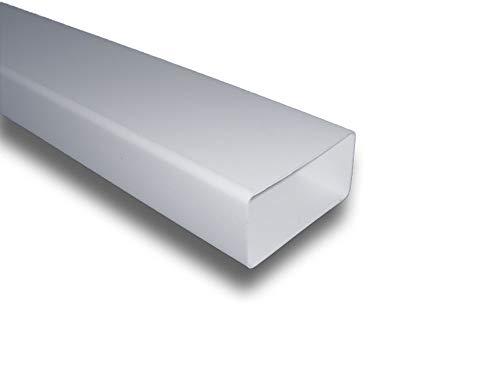 L/üftungssystem PVC /Ø100 /Ø150 mm /Ø125 L/üftungsrohr Rundrohr Rundkanal aus ABS-Kunststoff Rohrkanal Abluftrohr oder Zuluftrohr /Ø100mm; L=1m // 100cm