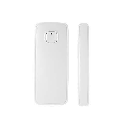 OWSOO Sensore Porta WIFI Tuya APP Controllo Apertura Della Finestra Sensore Di Allarme Di Sicurezza Interruttore Magnetico Rilevatore wireless Compatibile con Alexa Google Home IFTTT (1PCS)