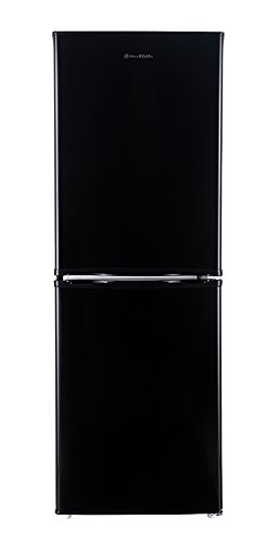 Russell Hobbs Freestanding 144cm Tall Fridge Freezer, A+ Rating, 156 Litre Net Capacity, Black, Reversible Doors, RH50FF144B