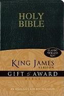 KJV, Gift and Award Bible, Imitation Leather, Black, Red Letter Edition (Bible Kjv)