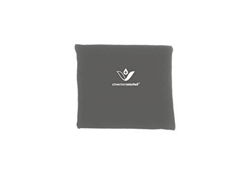 schwerinernaturheil Moor Wärmekissen 22x19 cm mit Fleecebezug in Basaltgrau, Wärmflasche, Heizkissen, Wärmekompresse