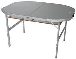Seules de faibles quantités sTABIELO-ovale-table de camping pliante en aLUMINIUM avec sac de transport nETZABLAGE pliable aLUMINIUM-plateau en aLUMINIUM avec sac de transport solide-table de camping 120 x 80 x 70 cm/46 cm-pieds réglable-holly ® sTABIELO de l'innovation mADE iN gERMANY-produits-prix, les sPEDITIONSKOSTEN incluses -