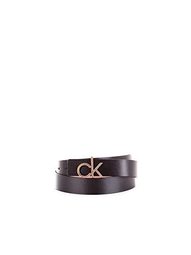 Calvin Klein Damen Gürtel 3CM REV. CK GIFTSET Schwarz (Black/Nude 910), 6651 (Herstellergröße:95)