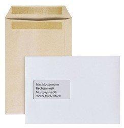 Versandtasche DIN C5, selbstklebend, weiß, mit Fenster (45 x 90 mm), Packung: 100 Stück