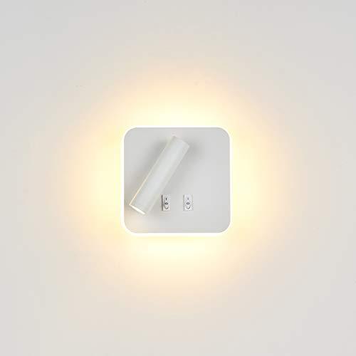 Topmo-plus Bañadores de pared Dormitorio Interruptor volvible apliques de lectura de pared cama Iluminación...