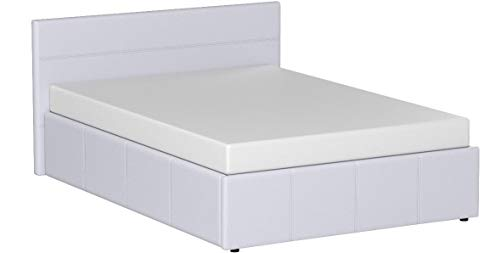 The Side Lift Ottoman Storage Bed (4ft6 Double, White)