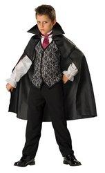 Klassischer Vampir Kinderkostüm - Größe: 10 / 134-140cm