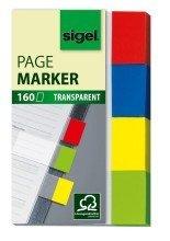 Sigel© Haftmarker Transparent, grn, gelb, blau, rot, 20x50 mm, 160 Streifen