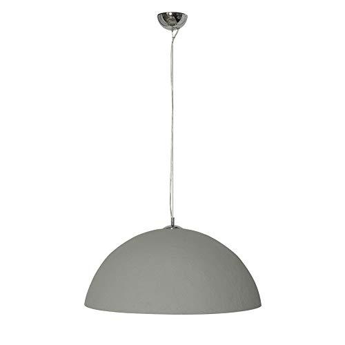Riess Ambiente Stylische Hängeleuchte Glow 70cm Beton Silber Hängelampe Deckenlampe Leuchte -