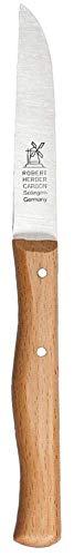 üsemesser mit gerader Klinge, langer 85 mm Griff aus Buche ()