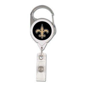 NFL New Orleans Saints Retractable Premium Badge Holder, Team Farbe, eine Größe
