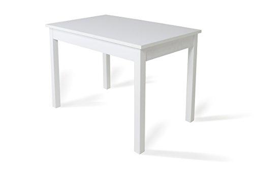 Trendyitalia 10614 tavolo allungabile, legno, larice bianco, 70x76x110/150 cm