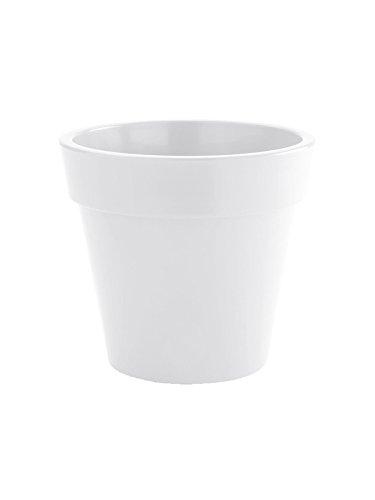 Nicoli R6650B Evolution Gloss stampaggio rotazionale Zeus vaso, bianco, 50cm