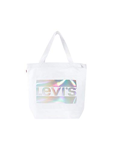 Levi's Damen The Everyday Two Face Tote, Weiß (Regular White), 39x14x30 centimeters -