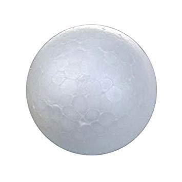 Palla in schiuma - SODIAL(R) 20 X bianco decorazioni a sfera di albero di Natale palla di modellazione artigianale pallina di polistirolo 7cm