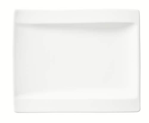 Villeroy & Boch NewWave Brotteller, 18 x 15 cm, Premium Porzellan, Weiß