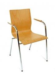 Produktabbildung von Besucherstuhl Design-Stapelstuhl